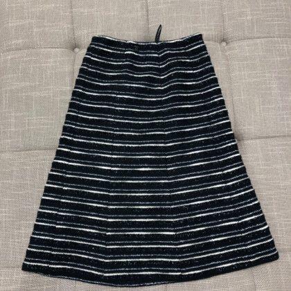 スカート 黒/白 ツイード #36 02A