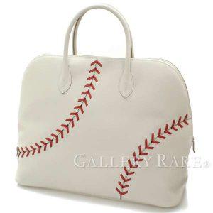 ボリード1923 ベースボール45 cm パールグレー×ルージュカザック×シルバー金具 ヴォーエヴァーカラー C刻印