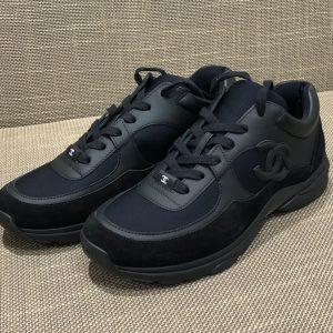 サイドココ スニーカー 黒 18AW