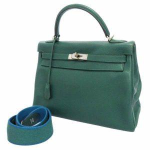 エルメス ハンドバッグ ケリー32 アマゾン 内縫い マラカイト